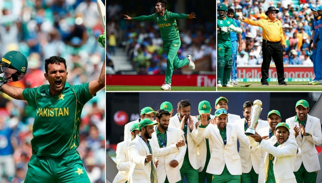 A colourful affair: Pakistan got the better of their arch-rivals.