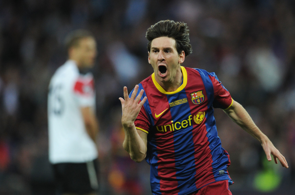 Messi was the catalyst as Barca - at their peak - beat United in both the 2009 and 2011 Champions League finals.
