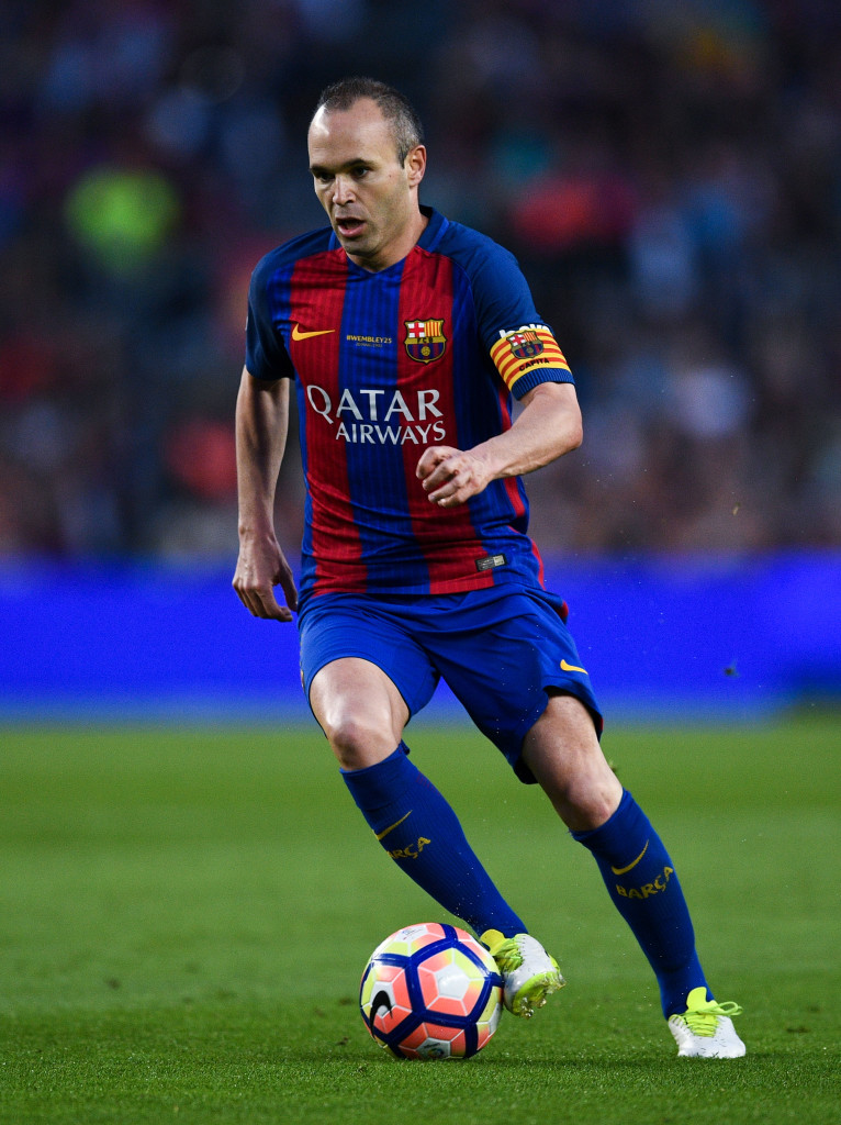 BARCELONA, SPAIN - MAY 21: Andres Iniesta of FC Barcelona runs with the ball during the La Liga match between Barcelona and Eibar at Camp Nou on 21 May, 2017 in Barcelona, Spain. (Photo by David Ramos/Getty Images)