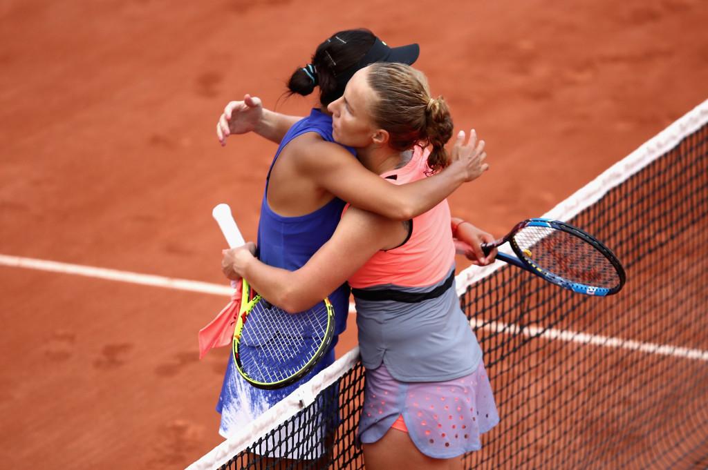 Kuznetsova after beating Zhang Shuai on Friday.