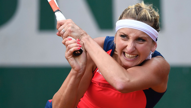 Marching on: Timea Bacsinszky.