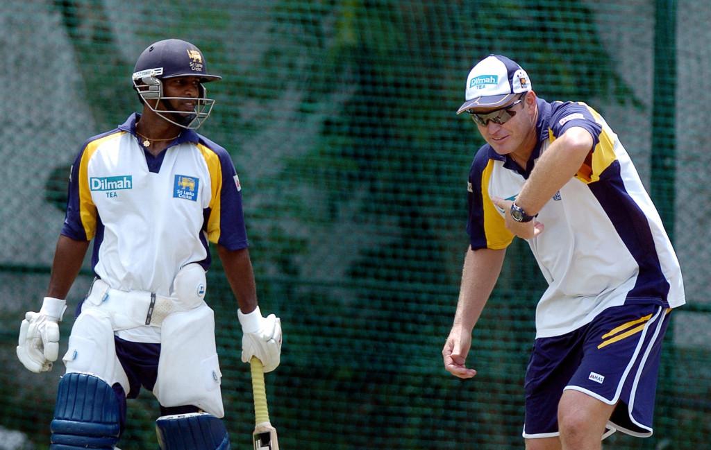 Tom Moody (right) has coached Sri Lanka