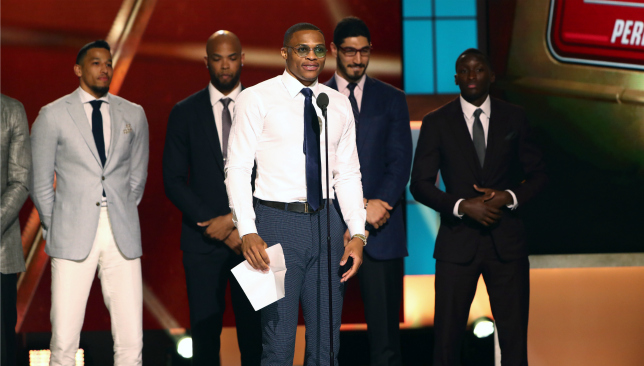 Russell Westbrook wins 2016-17 NBA MVP award