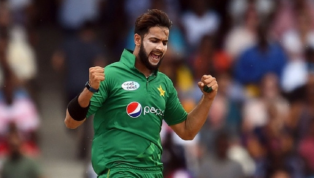 Imad Wasim in action during a T20I match against West Indies earlier this year.