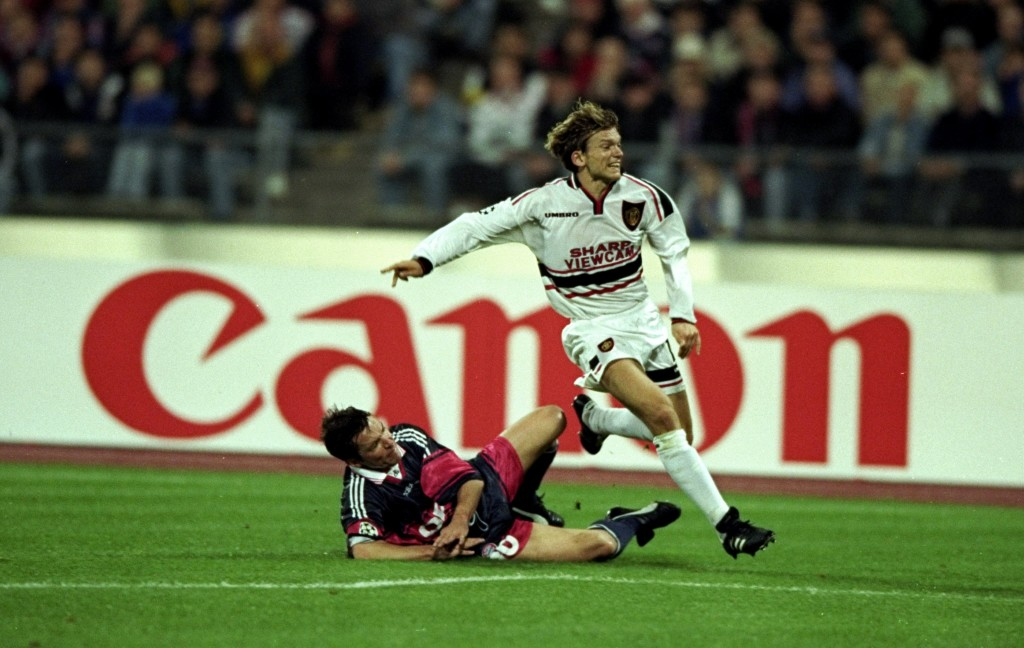 Jesper Blomqvist started the 1999 Champions League final against Bayern.