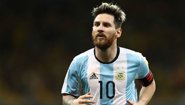 In Argentinean colors: Lionel Messi