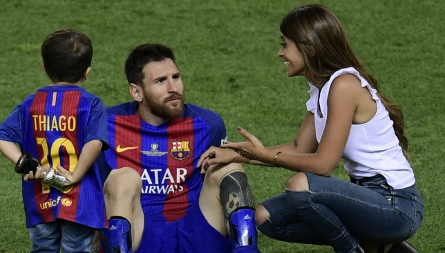 Due to marry: Messi and long-term sweetheart Antonella Roccuzzo.