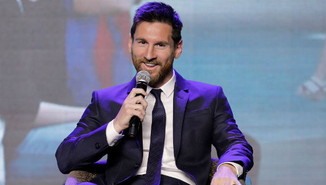 Messi speaks during a news conference in China.