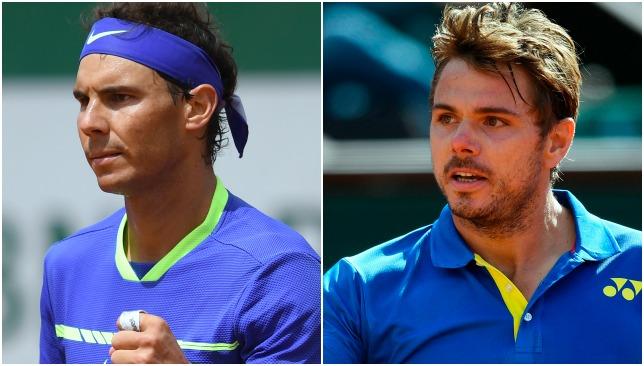 Chasing history: Nadal and Wawrinka.