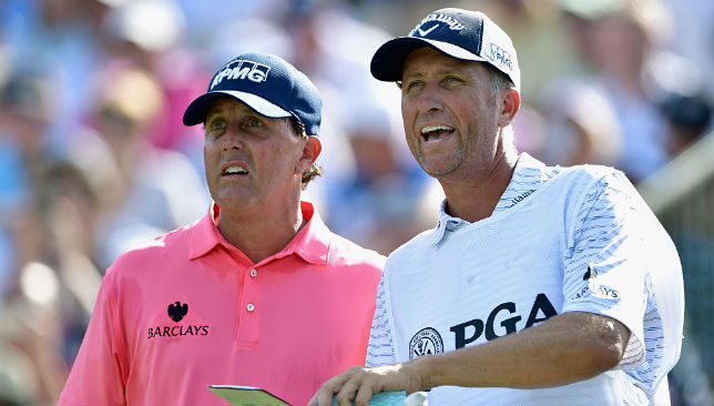 Phil Mickelson (l) and Jim Mackay (r) have been together as a team since 1992.