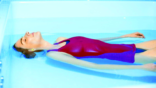 Sail away: aquatic therapy helps unwind both mind and body.