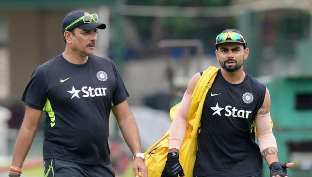 Virat Kohli and Ravi Shastri during the tour of Sri Lanka in 2015.