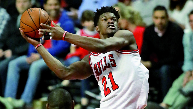 Seeing red: Jimmy Butler. Picture: Getty Images.