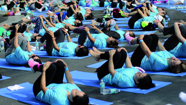 Lie back and relax: Yoga is a way to unwind from daily stresses.