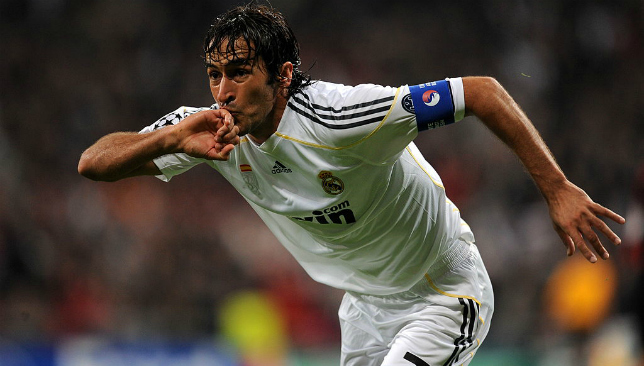 Raul is adored by Real Madrid fans.