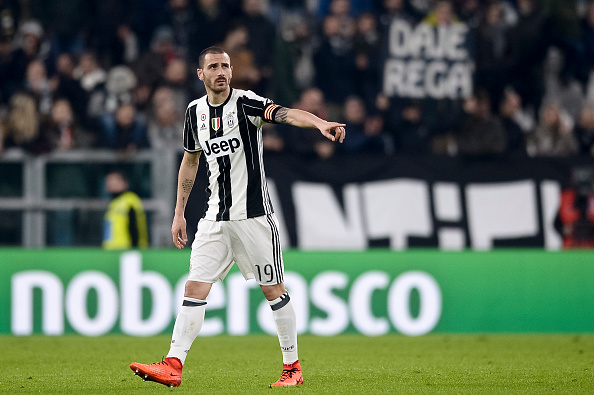 Bonucci captaining Juventus last season in Gigi Buffon's absence