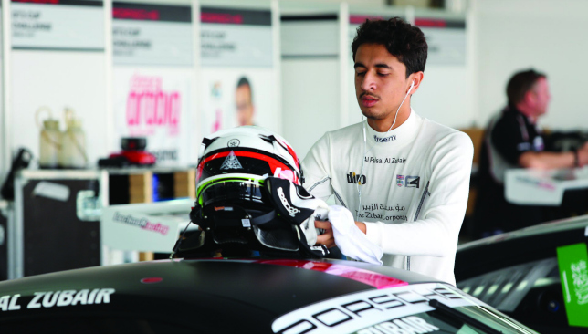 Gearing up: Al Faisal Al Zubair in the Porsche GT3 CCME.