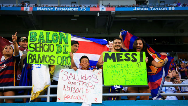 Barcelona fans prepare for Clasico.