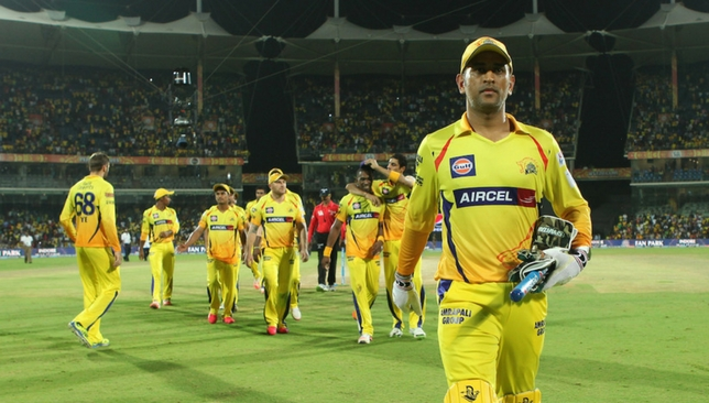 The CSK team during IPL 2015 [Sportzpics]