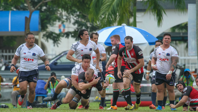 Lewsey (bottom c) in action for the UAE against the Philippines in May