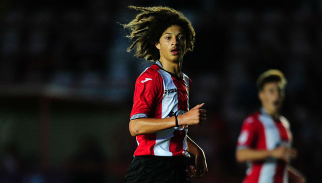 Ethan Ampadu started out with hometown club Exeter City.