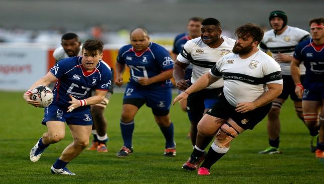 Dragons' scrum-half Morgan Ward in action against Dubai Exiles last season