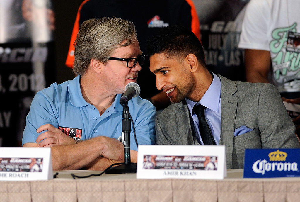 Amir Khan split with long time trainer Freddy Roach after the loss.