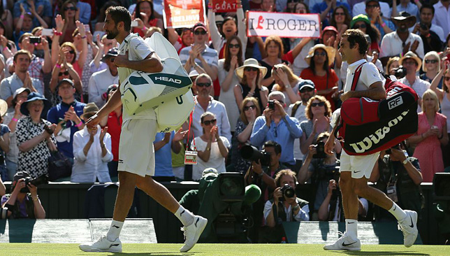 12 months later: A Federer-Cilic rematch at Wimbledon.