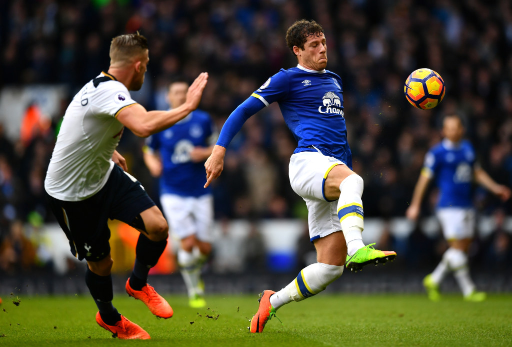 Ross Barkley in action against Spurs (Getty).