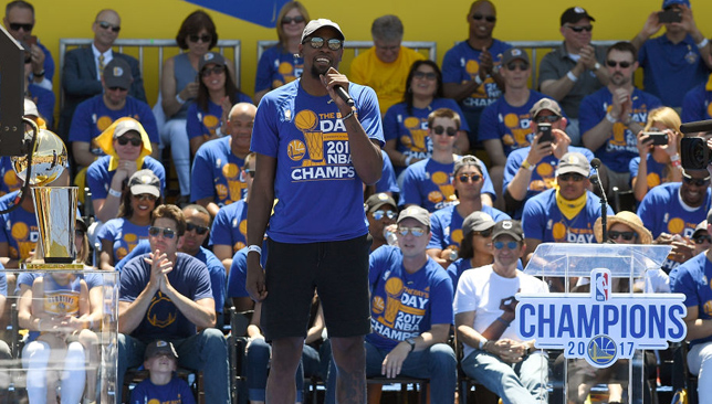 Promoting the game: Kevin Durant.