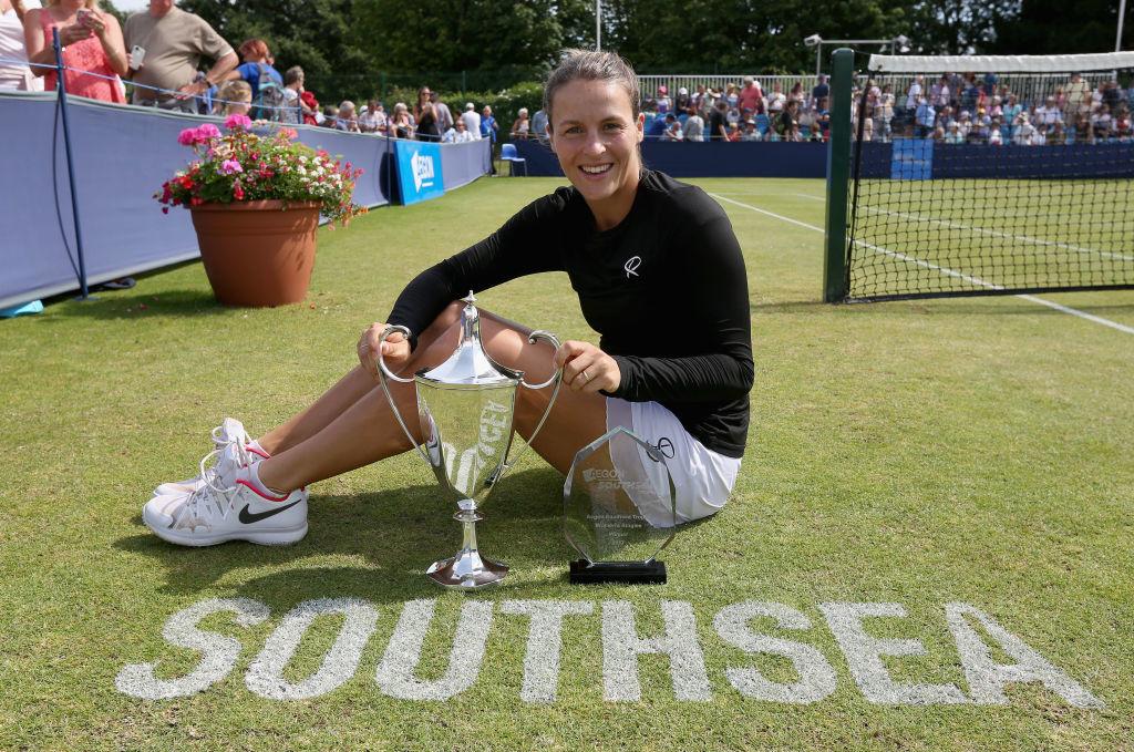 Tatjana Maria won the Aegon Southsea Trophy last week.