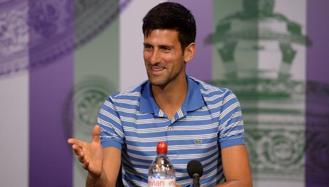 Djokovic was in good spirits in press on Sunday.