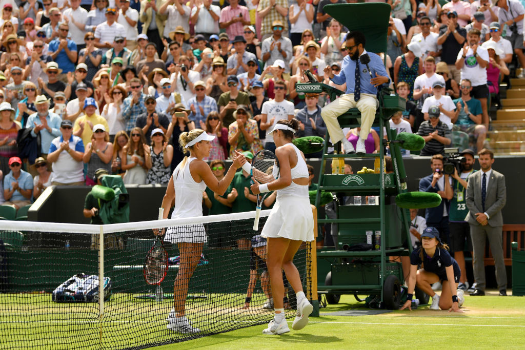 Scorcher: Kerber's match with Muguruza was a high-quality affair.
