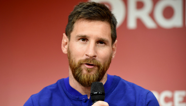 Lionel Messi happy with