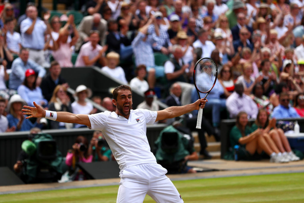 Hear him roar: Marin Cilic.