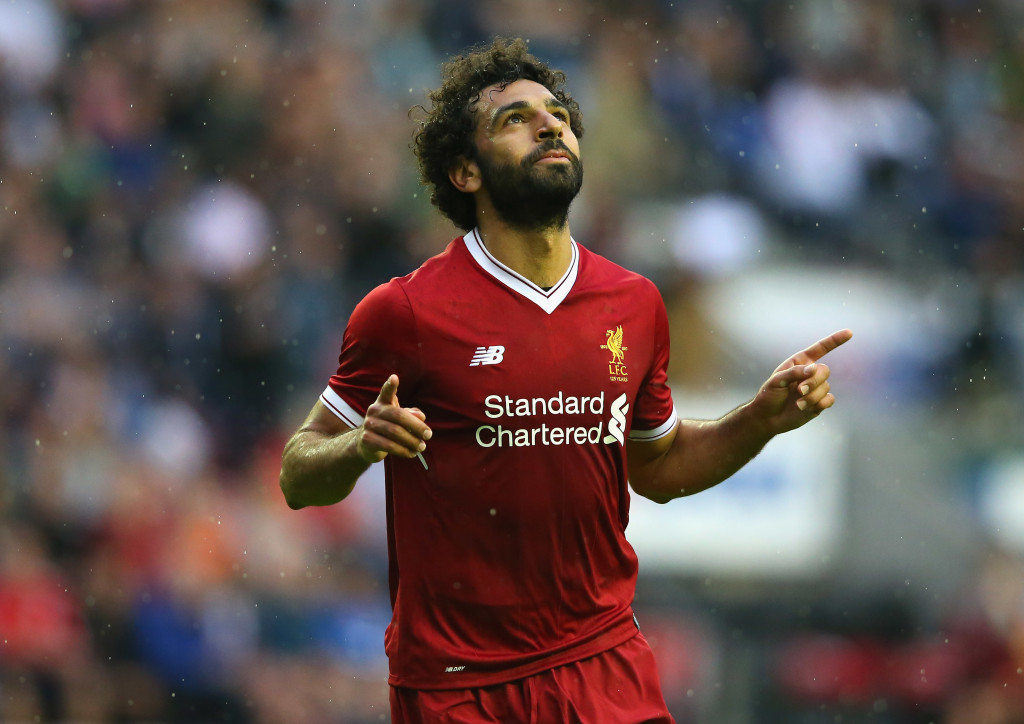 Mohamed Salah against Wigan (Getty).