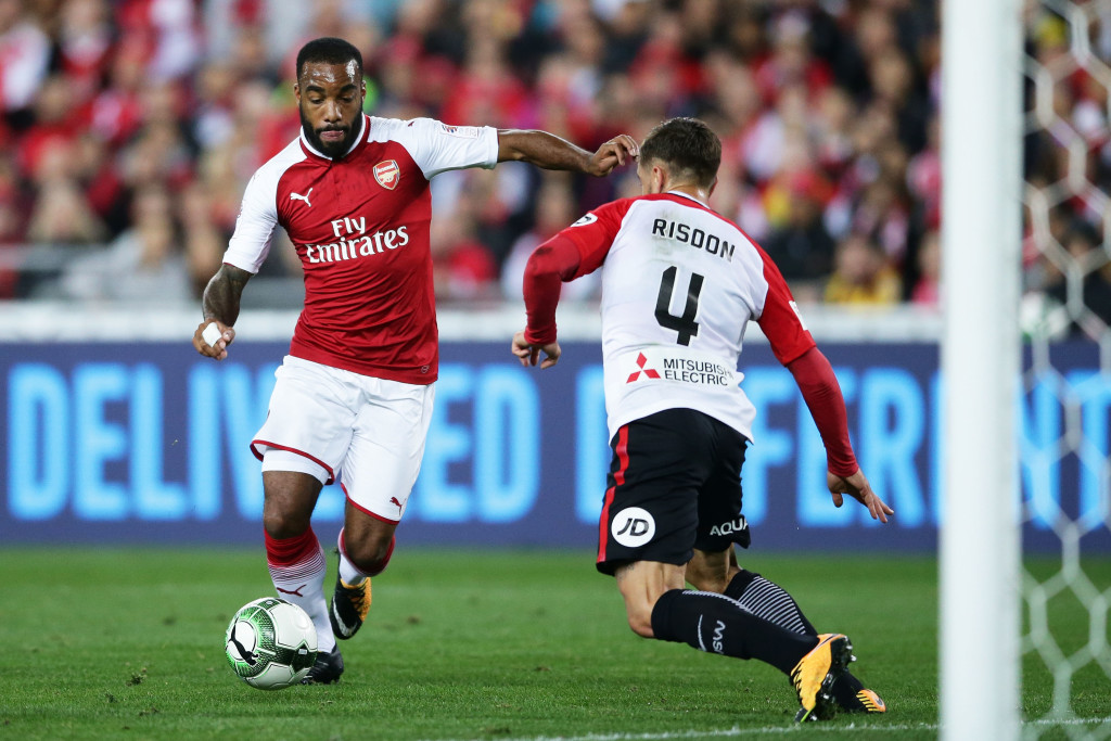 Alexandre Lacazette against WSW (Getty).