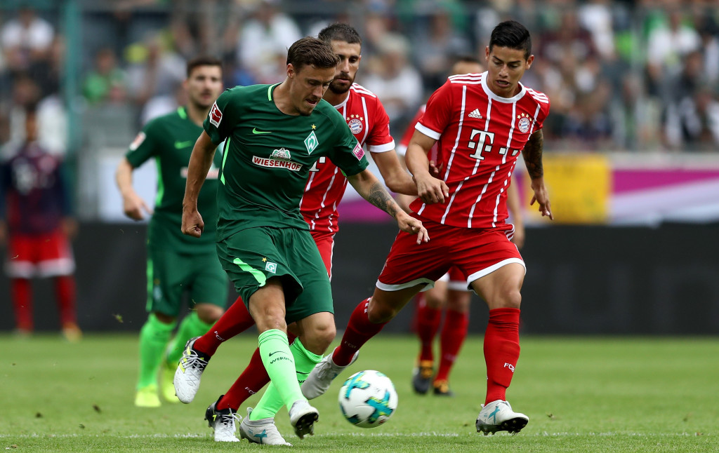 James Rodriguez against Werder Bremen (Getty).