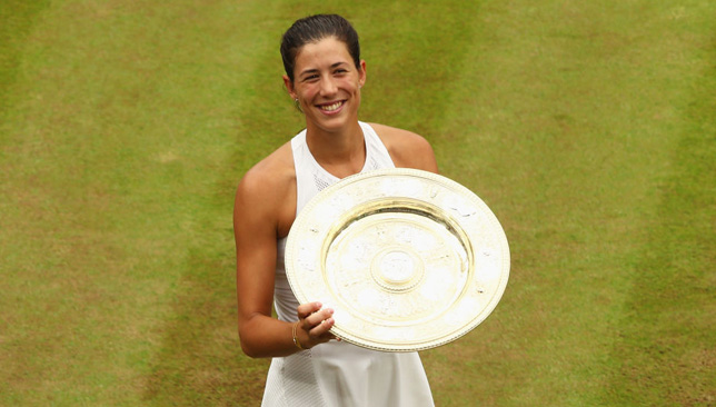 Making history for Spain: Muguruza.