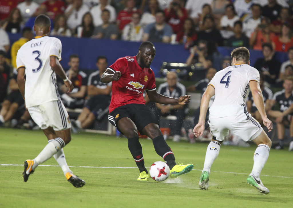 Romelu Lukaku against LA Galaxy (Getty).