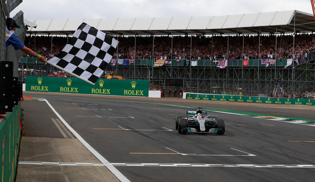Hamilton set the fasted lap on route to the chequered flag.