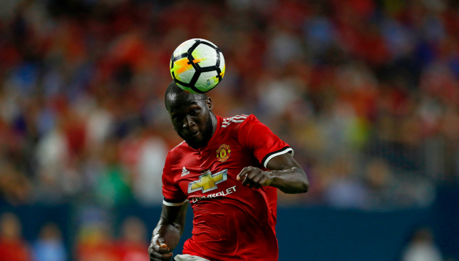 Romelu Lukaku scored his second United goal in two games against City