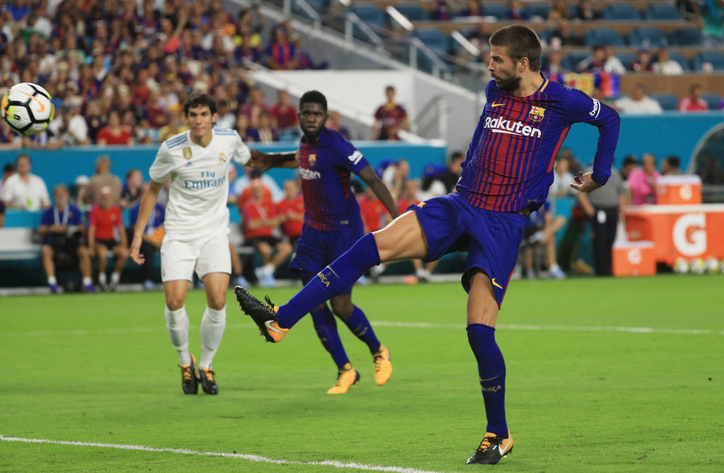 Barcelona's Pique scored the winner five minutes into the second half.