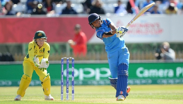 Harmanpreet Kaur during her innings against Australia.