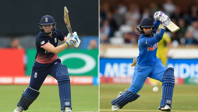 The captains: Heather Knight and Mithali Raj.