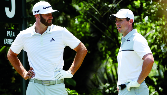 Dustin Johnson and Rory McIlroy.