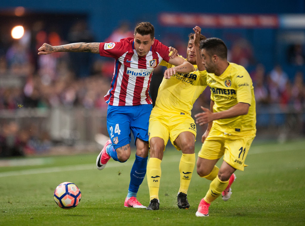 Centre-back of attention: Jose Gimenez claims he is happy in Madrid.