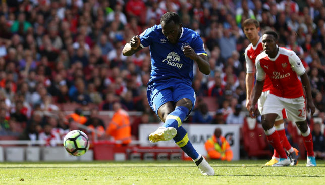 Goal machine: Romelu Lukaku averaged a Premier League goal every 130 minutes for Everton last season.