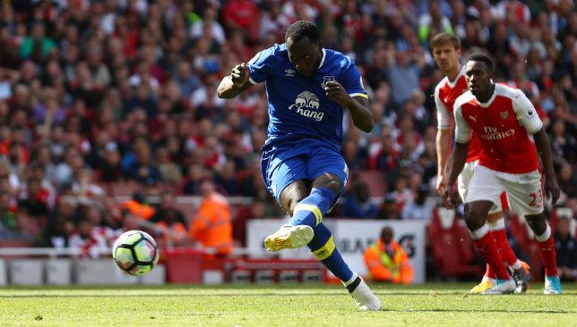 Goal machine: Romelu Lukaku averaged a Premier League goal every 130 minutes for Everton last season.