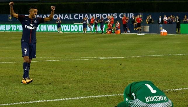 Marquinhos scores the winning penalty.